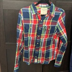Abercrombie and Fitch Multicolored Flannel
